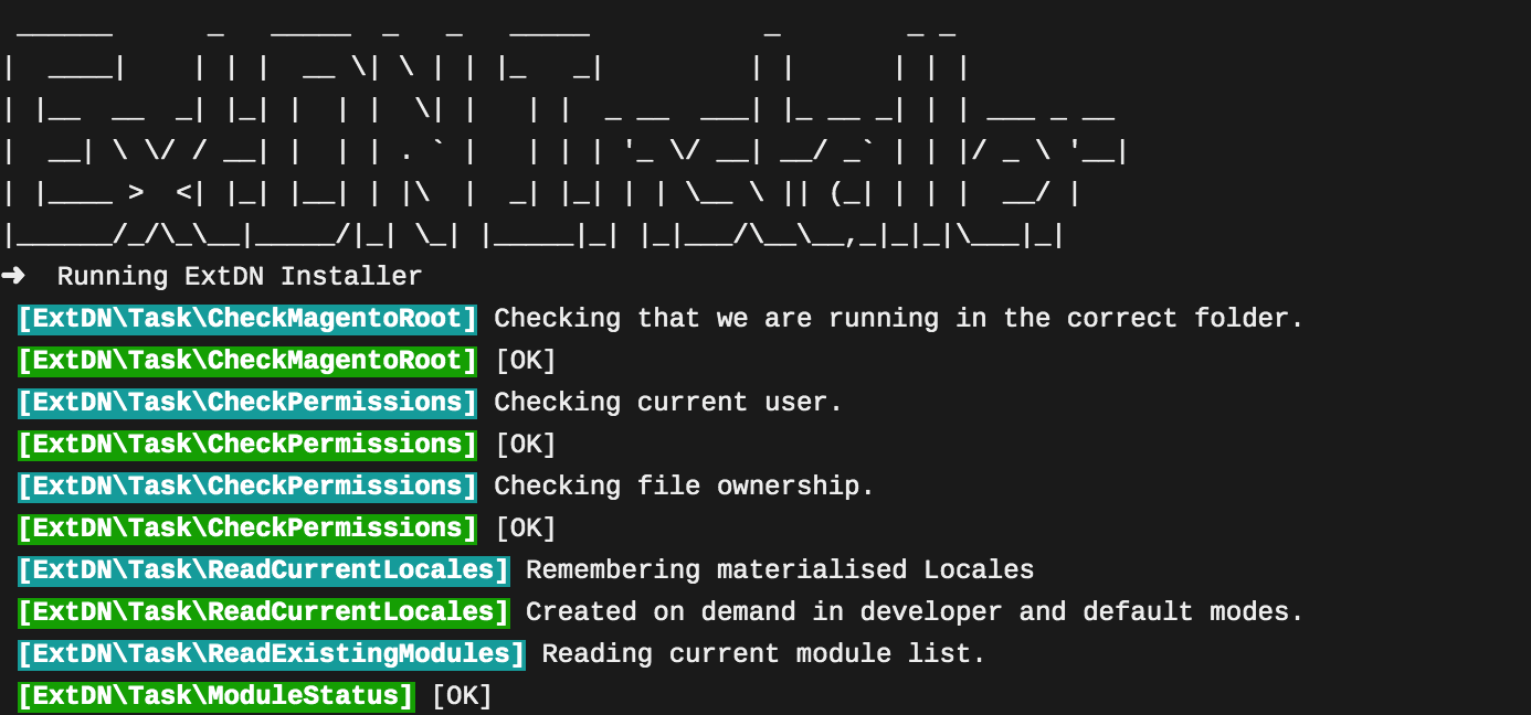 ExtDN Installer Screenshot