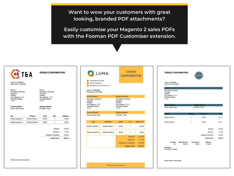 Custom Magento 2 PDFs to wow your customers