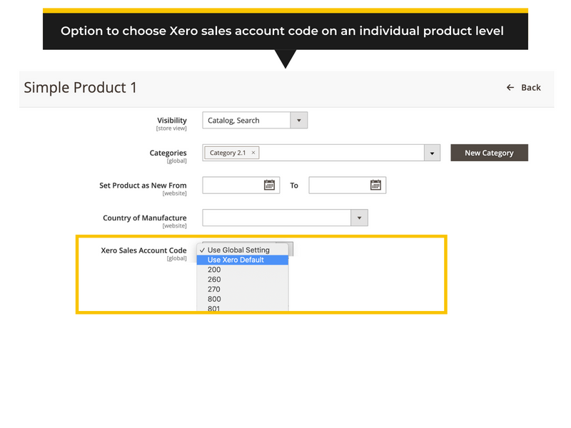 Advanced setup options for Magento 2 to Xero export