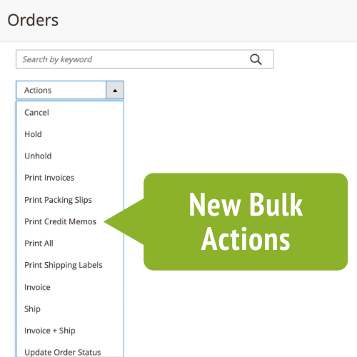 Handling bulk order volumes is a breeze with our Order Management Extension. Mass invoice and mark all orders as shipped with one click from the Order Overview Screen.