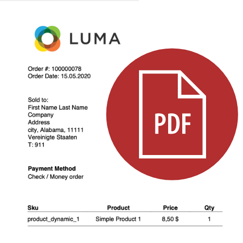 Trusted Magento 2 PDF invoice template customisation since 2009